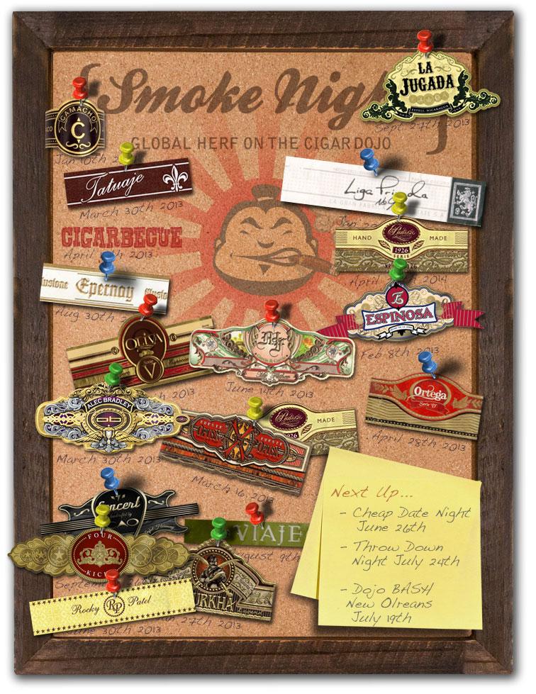 Smoke Night Global HERF on the Cigar Dojo