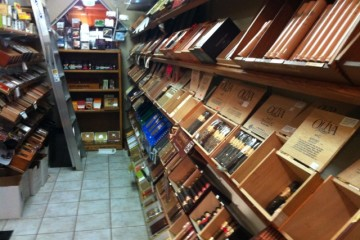 The Walk in humidor at Gars and Grapes