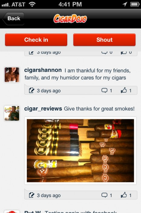 Cigar giveaway example