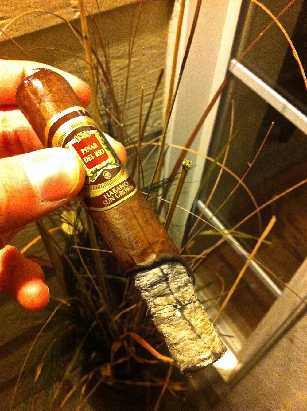 Smoking a Pinar Del Rio Habano