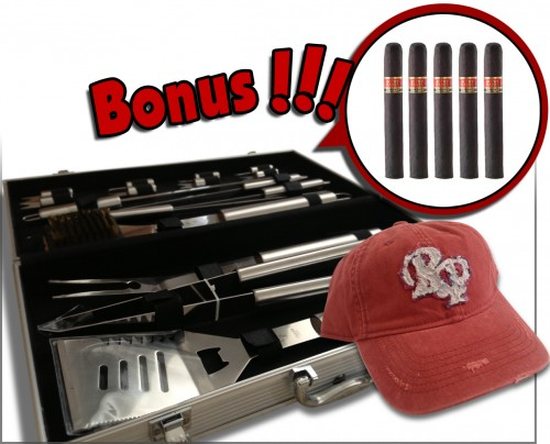 Rocky Patel Grill Set with Baseball Hat and Cigars