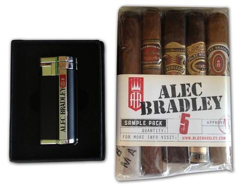 Alec Bradley 5 pack cigars and lighter