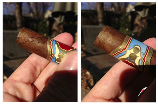 Dealing with a cracked cigar wrapper