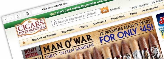 Cigars International website