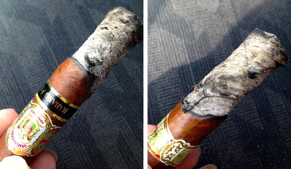 Gran Habano Habano #3 cigar burn