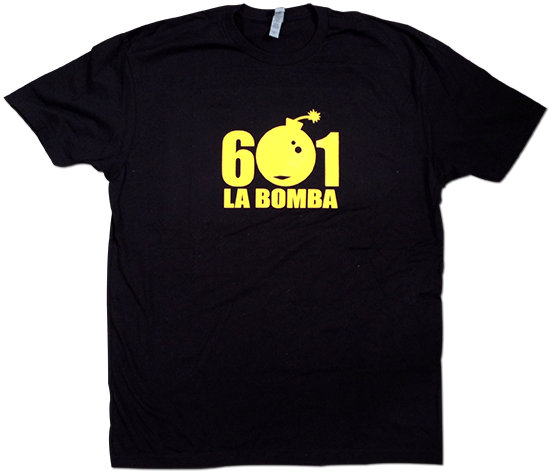 601 La Bomba black and yellow shirt