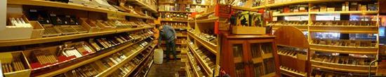 Tobacco Grove cigar shop humidor