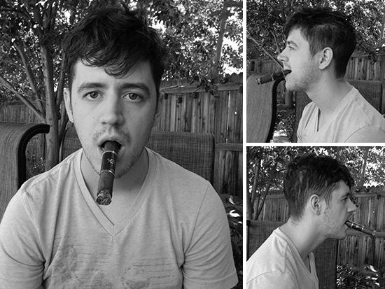 Cigar contest mug shot picture