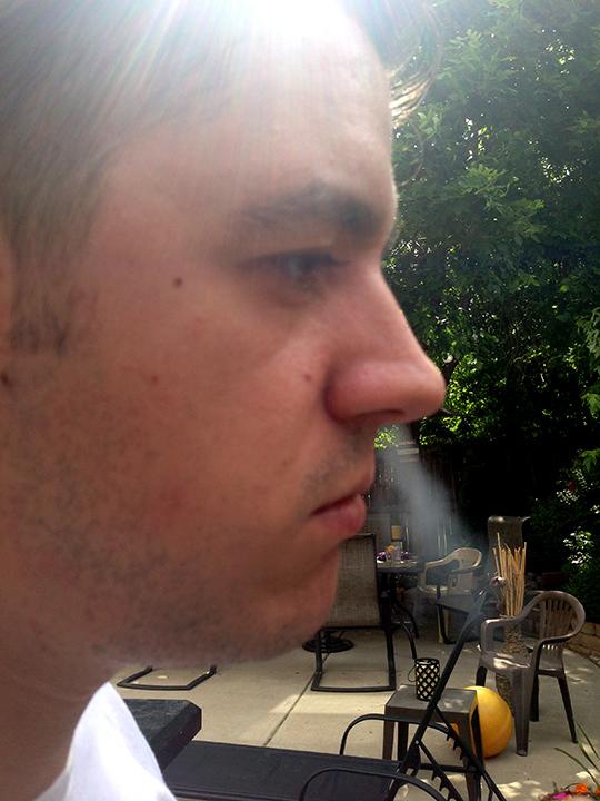 Retrohaling cigar smoke