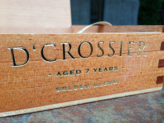 D'Crossier Golden Blend Double Corona cigar box