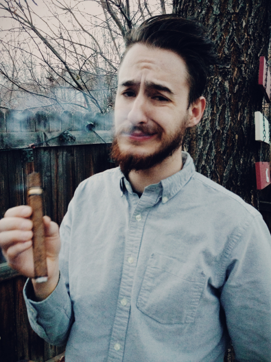 Cigar smoking face