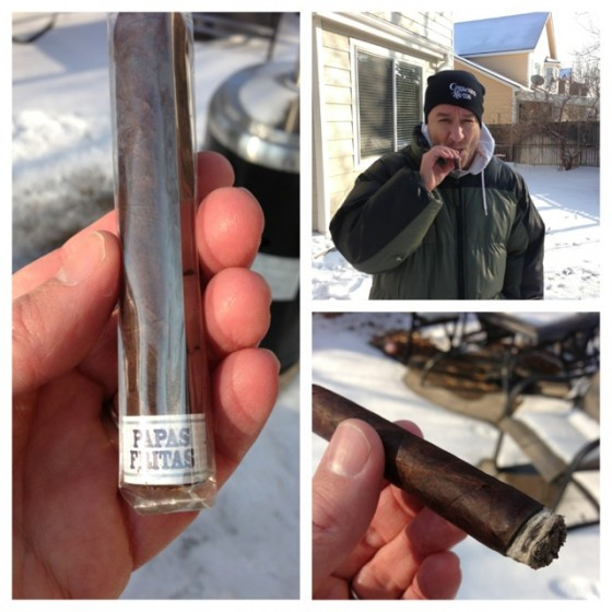 Cigar-smoking in the cold