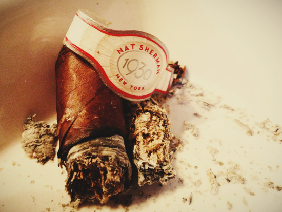 Nat Sherman 1930 cigar ashes