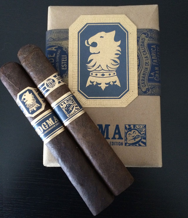 The box-pressed 6x56 Dogma comes in 10 count bundles featuring the Cigar Dojo logo on the front.