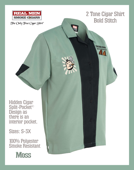 2 Tone Retro Cigar Dojo Smoking Shirt
