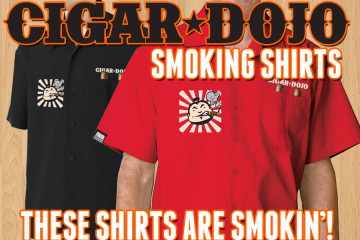 Cigar Dojo premium smoking shirts for sale