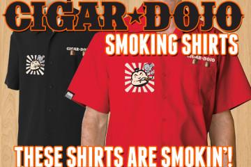 Cigar Dojo premium smoking shirts for sale