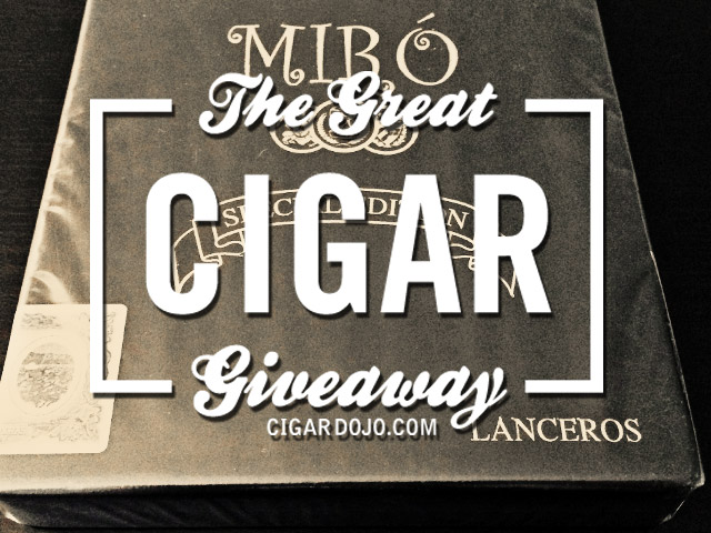 Kuuts Miro Lancero cigars giveaway