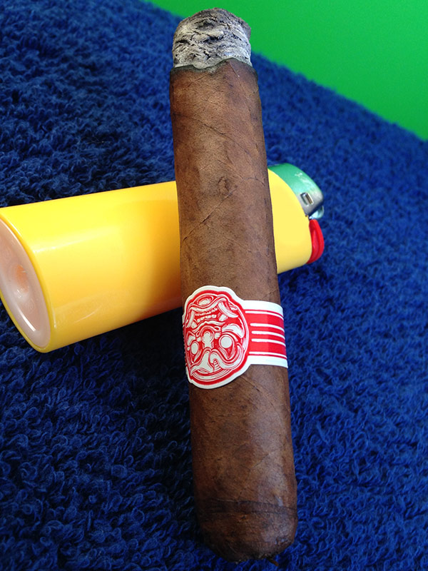 smoking the Room101 Serie HN cigar