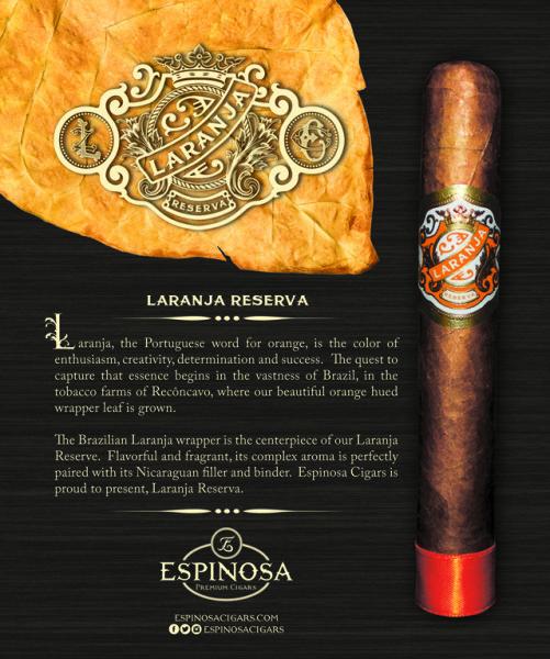 Espinosa Cigars introduces the Laranja