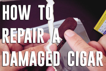 How to repair a damaged cigar