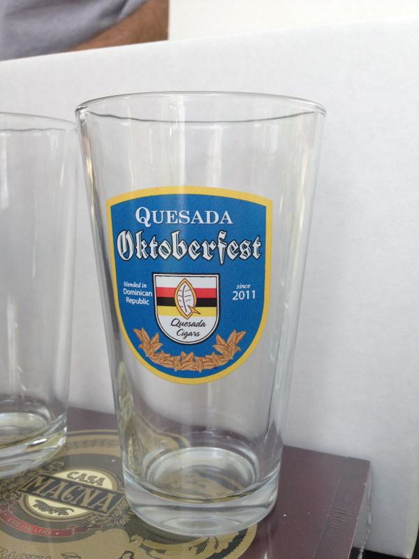 2014 Rocky Mountain Cigar Festival Quesada Oktoberfest glass