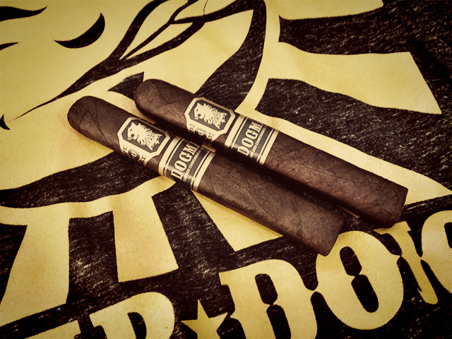 Cigar Dojo shirt and Undercrown Dogma cigars