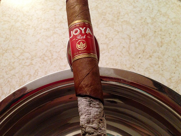 smoking and reviewing Joya Red cigar