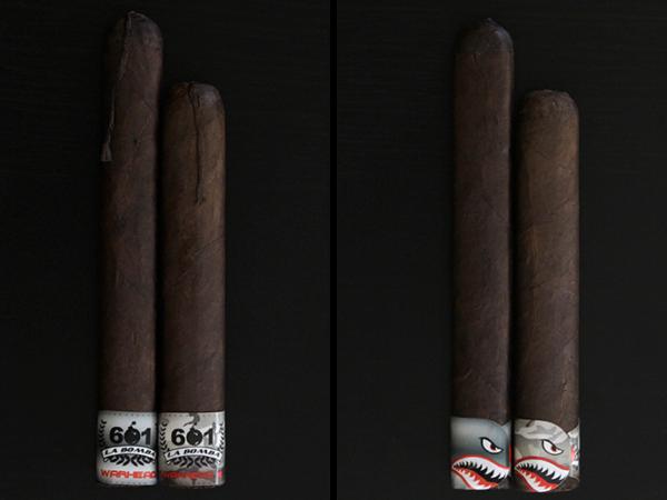 601 La Bomba Warhead cigar comparison