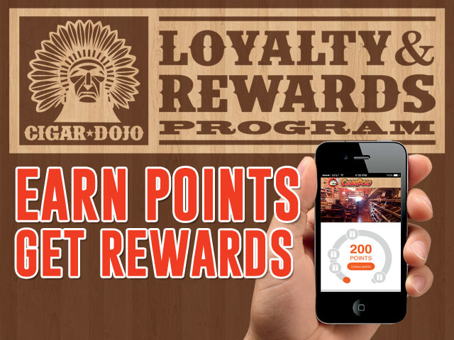 Cigar Dojo app loyalty and rewards program