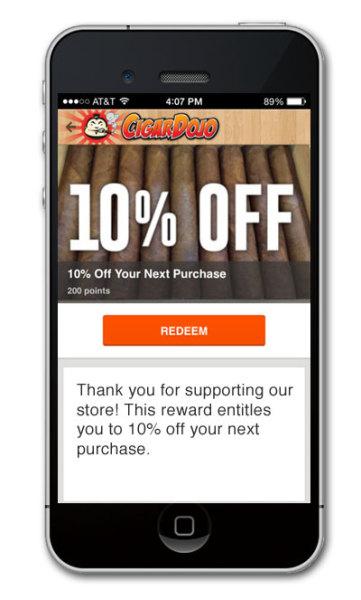 Cigar Shop loyalty and rewards program