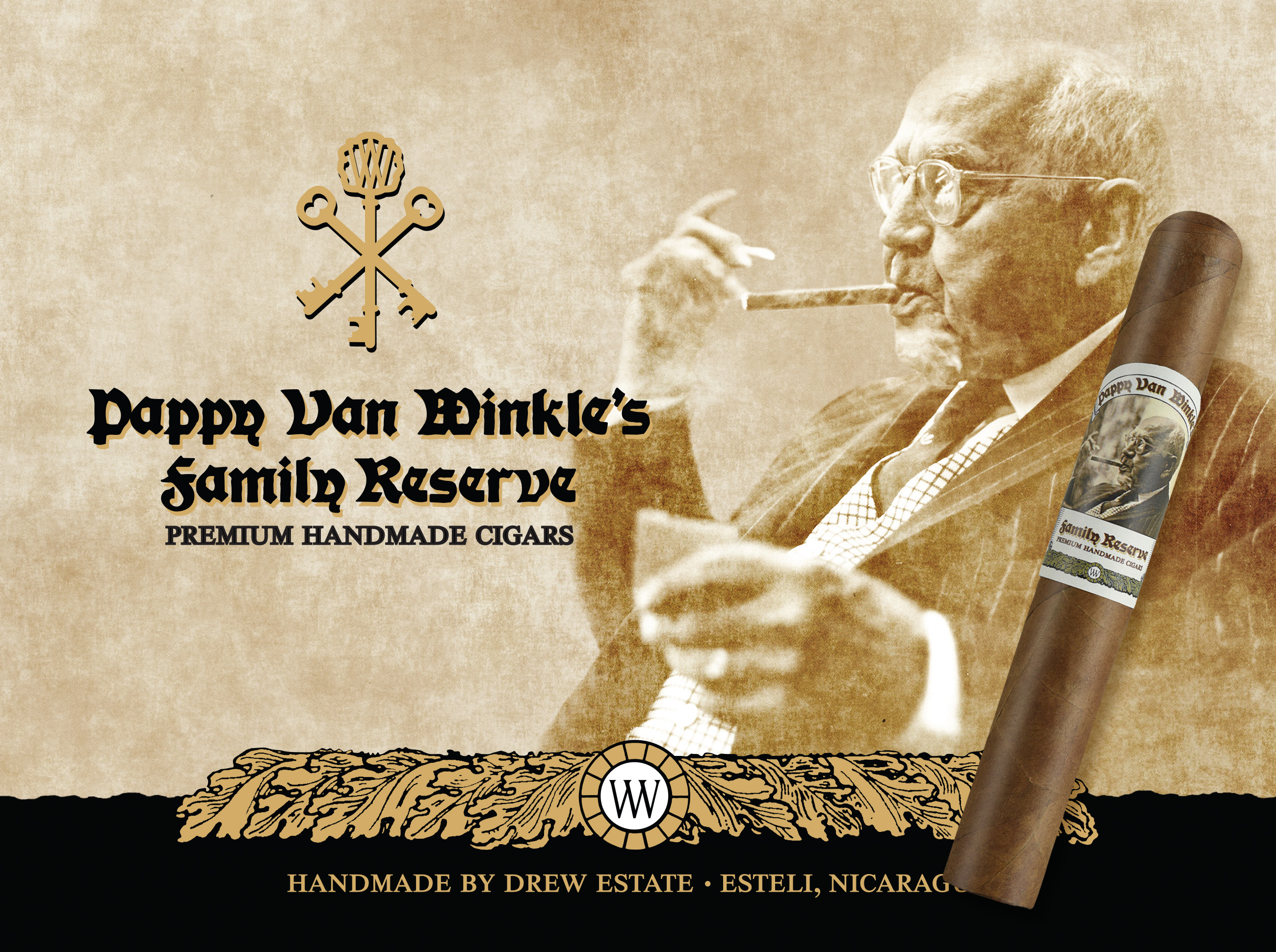 Announcement Pappy Van Winkle Family Reserve Drew Estate cigars