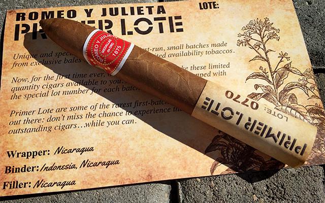 Romeo y Julieta Primer Lote 770 Belicoso cigar review