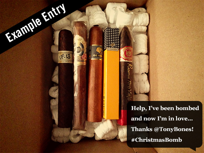12 Days of Cigars and Christmas cigar bomb entry