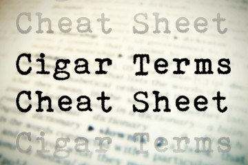 Cigar Terms Cheat Sheet Reference Guide