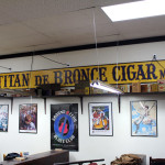 El Titan de Bronze cigar factory sign