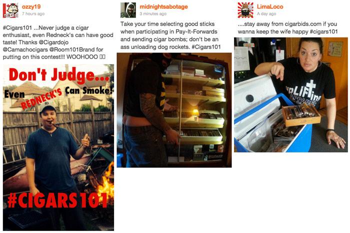 Cigar contest winners