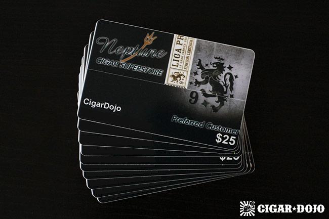 Neptune Cigars gift cards Cigar Dojo
