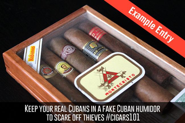 Cigar Dojo example contest entry