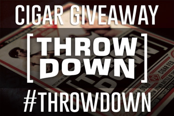 Throw Down cigar giveaway