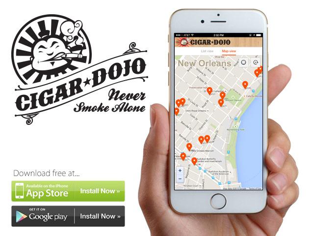 IPCPR 2015 smoking locations on Cigar Dojo app