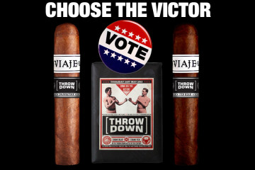 Viaje Throw Down cigars voting & choosing the victor