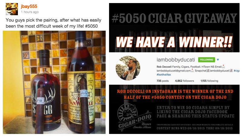 50/50 cigar contest winners