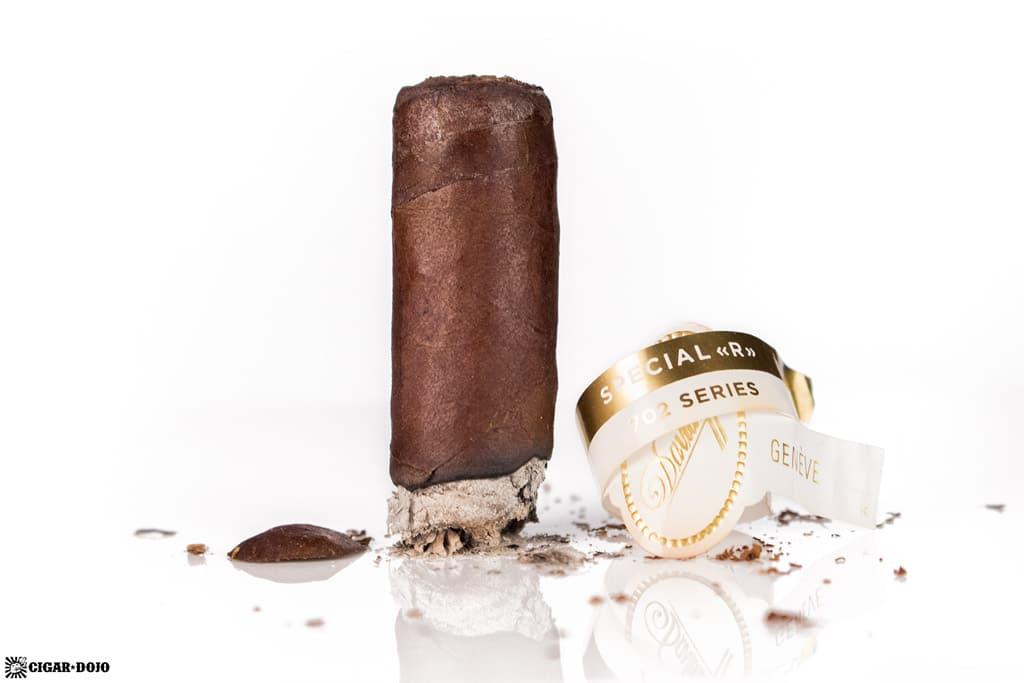 Davidoff 702 Series Special R cigar nubbed