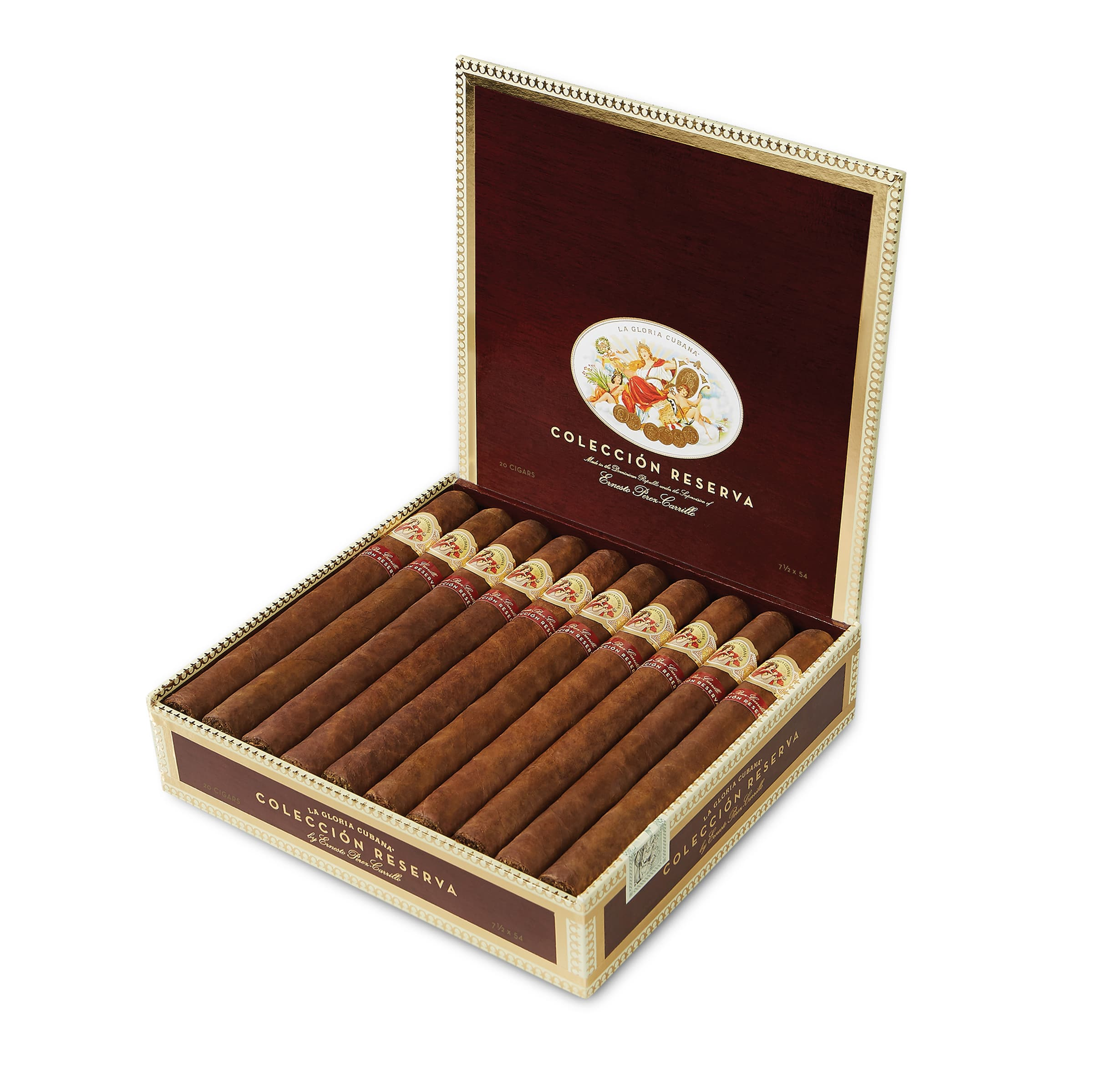 La Gloria Cubana Colección Reserva cigar box open