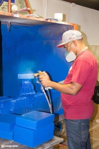 Cohiba Blue cigar box painting