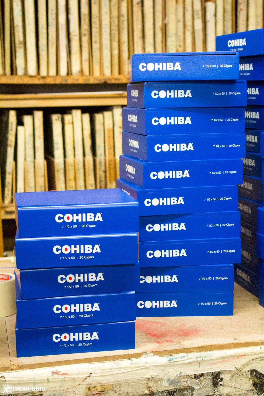 Fresh painted 2017 Cohiba Blue boxes