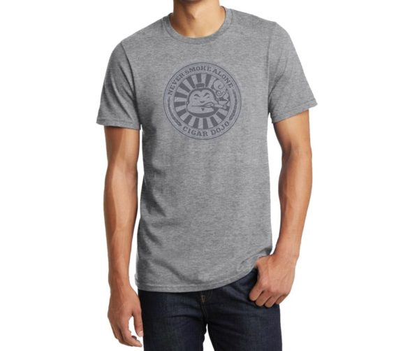 Cigar Dojo Gray *Insignia* Shirt with model