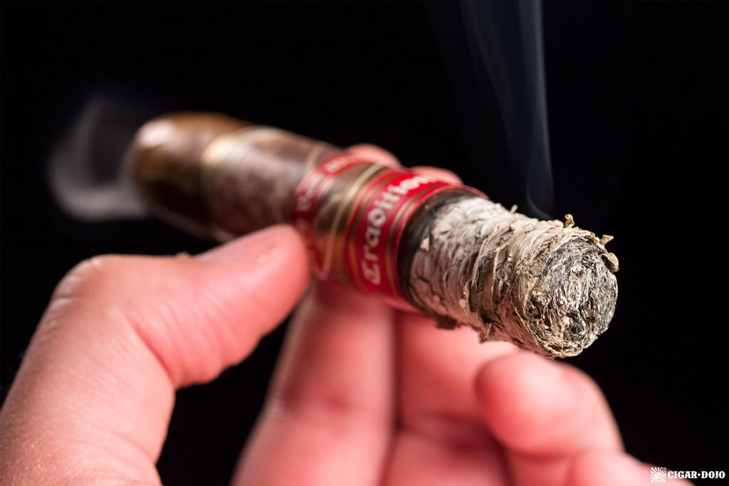 Pappy Van Winkle Tradition Belicoso Fino cigar ash