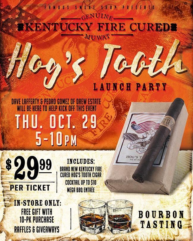 Drew Estate Kentucky Fire Cured Hog's Tooth cigar announcement